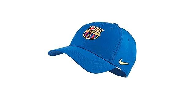 Nike FC Barcelona Dry L91 Cap Adj Gorra, Niños, Azul (Gym Blue ...