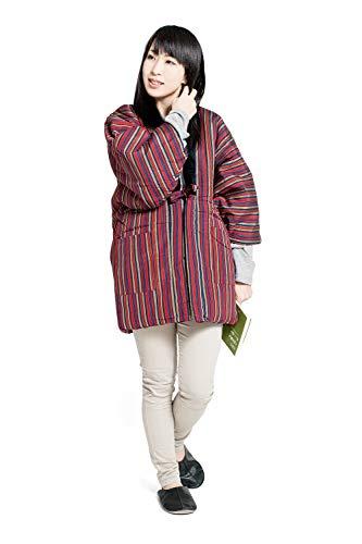 스트라이프 반(半)고지 않겠 레이디스 일본제(MADE IN JAPAN) 겉옷 구루메주 표준 프리 사이즈