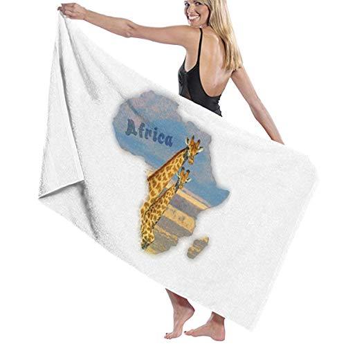 Fallake Bath Towels, Giraffe South Africa, Baby Microfiber Bed Bath Towel Beach Towels for Men, Bath Set Bathroom Accessories