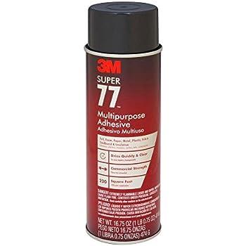 3M 77 Super Multipurpose Adhesive Aerosol, Clear 16.75 Oz. Aerosol Can