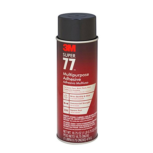 3m Glue Metal (3M 77 Super Multipurpose Adhesive Aerosol, Clear 16.7 Oz. Aerosol Can)
