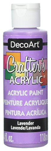 DecoArt Crafter's Acrylic Paint, 4-Ounce, Lavender