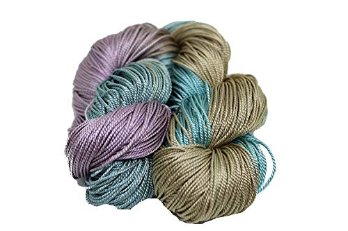 KNITSILK 100% Mulberry Silk Yarn 50 Gram 3 Ply Lace Weight | Great for Knitting, Crochet, Weaving, Mixed Media (Tiger Lily)