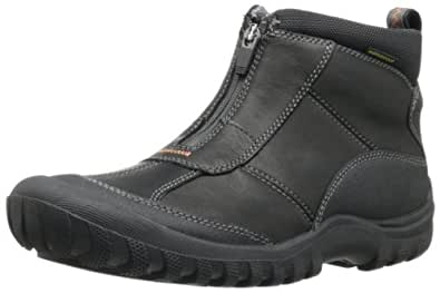 Amazon.com | CLARKS Men's Archeo Zip, Black Leather, 14 M