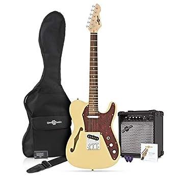 Guitarra Semi-hollow Knoxville + Pack de Ampli de 15W - Marfil ...
