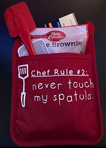 Custome MadeポケットW /鍋つかみ – Includes Spatula and Brownie Mix B078J7FZKB