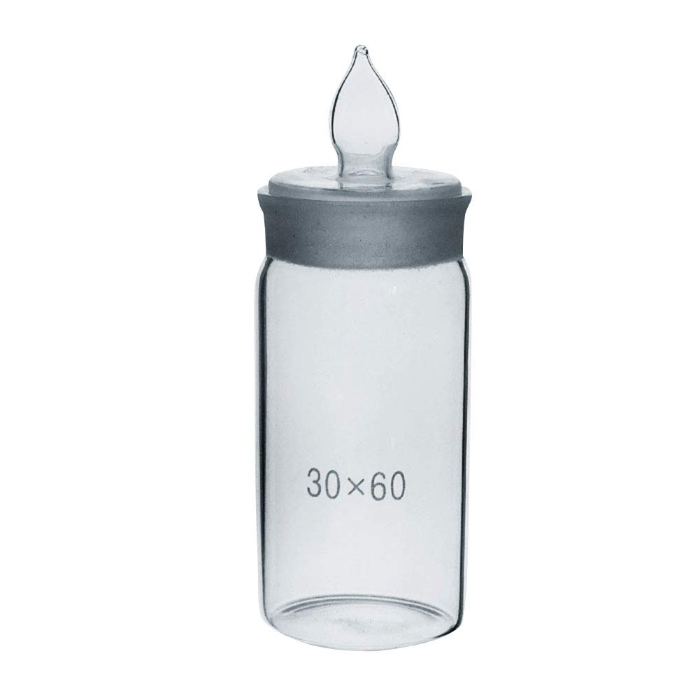 Weighing Bottle, Tall Form, Borosilicate 3.3 Glass, Dia.XHight 30X60mm,Weighing Bottle with Stopper 20pcs/Set by Adamas-Beta