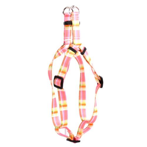 Yellow Dog Design Step-In Harness, Medium, Madras (Yellow Madras)