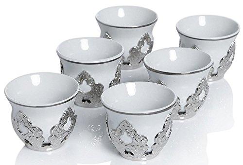 Arabic Turkish Coffee Porcelain Holders product image