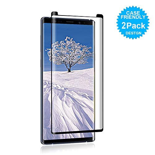 [2Pack] Cafetec Samsung Galaxy Note 9 Screen Protector [9H Hardness][Anti-Scratch][Anti-Bubble][3D Curved] [High Definition] Tempered Glass Screen Protector Compatible with Samsung Galaxy Note 9 Black
