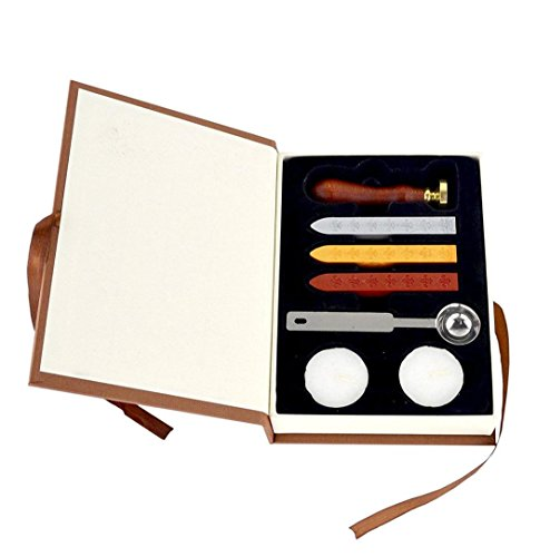 Creazy Wax Seal Stamp Kit Sunsbell Stamp Seal Sealing Wax Set - School Badge (Hogwarts School Uniform)
