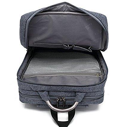 Multifuncional mochila para portátil, bolso, Cross Body bolsa de hombro para el hombre Viajes de negocios, ordenador portátil - Color Negra Azul