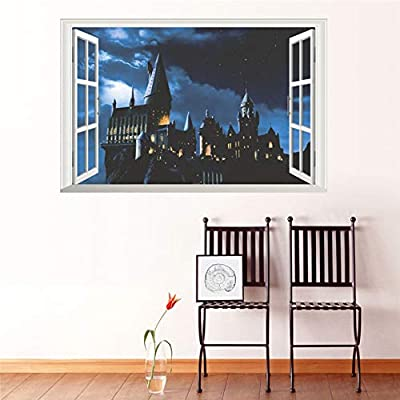 3d ventana castillo etiqueta de la pared decal harry potter pvc ...