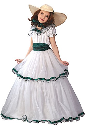 [Mememall Fashion Southern Belle Dress Girls Child Halloween Costume] (Southern Belle Child Halloween Costume)