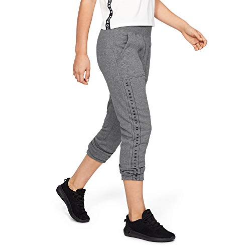 Under Armour Women's Rival fleece Pants, Jet Gray Light Heather//Black, Medium