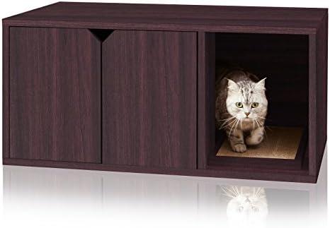 Way Basics Eco Friendly Modern Cat Litter Box Furniture (made from