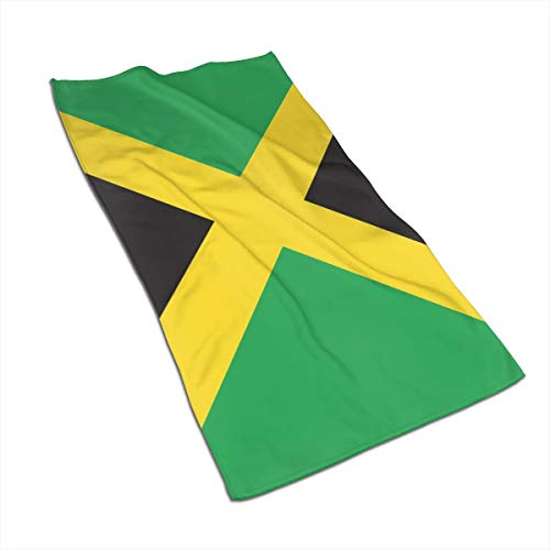 RZM YLY Jamaican Flag Bath Towels - Ultra Soft Exquisitely Plush Luxury Bathroom Towels 27.5 X 17.5in (Jamaican Beach Towel)