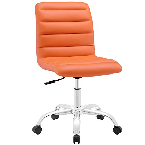 Modway Ripple Mid Back Office Chair, Orange