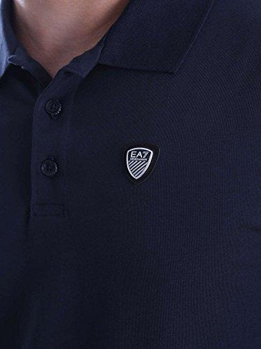 Ea7 Train Soccer Shield Polo Small NAVY