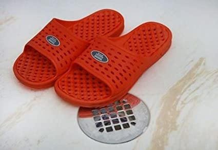 Amazon.com   Anti-Slip Women s Shower Sandals - Orange   Sports ... 28efd45ab