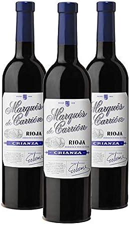 Marqués de Carrión Crianza - Vino Tinto D.O Rioja - Caja de 3 Botellas x 750 ml