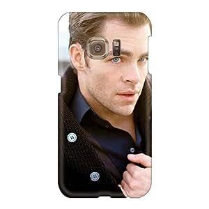 Samsung Galaxy S6 Ugi29779oQEG Unique Design Realistic Chris Pine Pictures Anti-Scratch Hard Cell-phone Case -LeoSwiech
