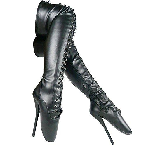 Chaussures Genou De Hauts Bottes Cuir Black Bottes Aiguilles Club Haut Plateforme à XIE Cosy 38 Cuissarde L Talon Talons éTendue Aiguille Cuissardes Cuissardes FéTiche mat Sexy Femme Plus blackmatte Cuisse CS006 U67wdxP