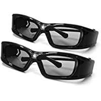 APEMAN 3D Glasses DLP Series Rechargeable Glasses Hi-Brightness/Hi-Contrast Compatible with All and Only DLP Link 3D Projectors (2PACK)