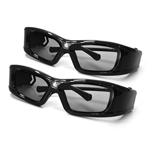 APEMAN 3D Glasses DLP Series Rechargeable Glasses Hi-Brightness/Hi-Contrast Compatible with All and Only DLP Link 3D Projectors ( 2PACK)