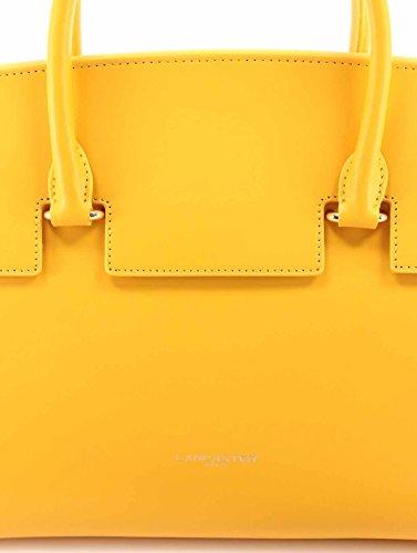 Sacs Femmes LANCASTER Paris Jaune Cuir Vachette Yellow Made France Nouveau New