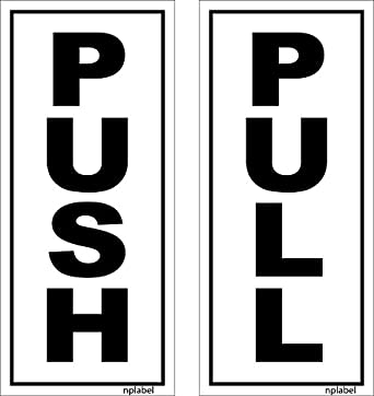 Nplabel push pull label push pull sticker aluminum 75x170mm self adhesive easy to