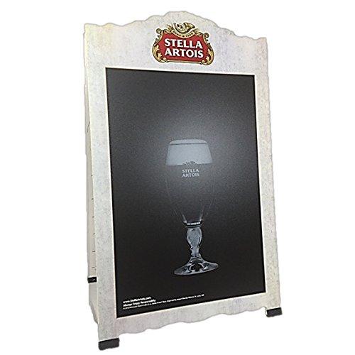 Stella Artois Beer Double Sided Chalkboard Advertising Sandwich A-Frame (Stella Bar Table)