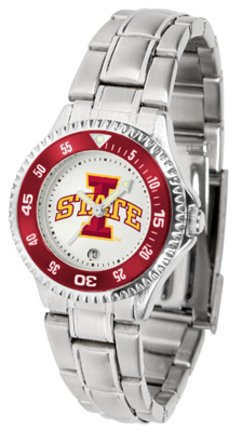 Iowa State Cyclones Competitor Ladies Watch with Steel Band - Iowa State Cyclones Ladies Watch