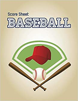 buy baseball score sheet baseball game record keeper book baseball