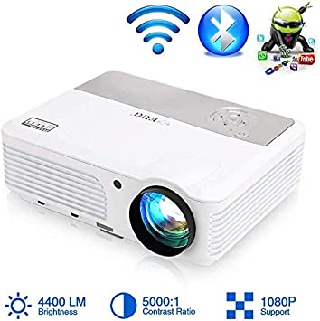 Video Projector 2020 Actualizado Android Smart WiFi Bluetooth Proyector HD 1080P Airplay LED Compatible 4400 Lumen Home Cinema Película Juego TV Proyectores con HDMI USB VGA AV RCA Audio Zoom: Amazon.es: Electrónica