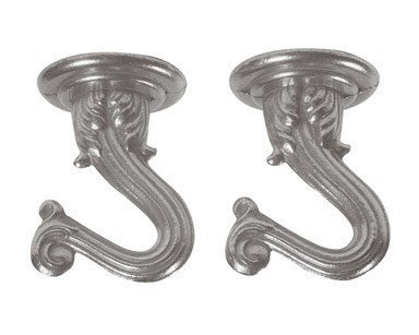 Pewter Swag - Westinghouse 7044400 Pewter Swag Hooks 2 Pack