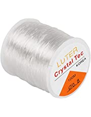 LUTER 328ft 0.8 mm Clear Bead Cord Crystal Elastic Stretchy Bracelet String for Jewelry Making Necklace Bracelet Beading Thread