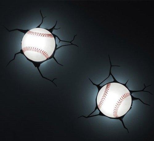 3D Wall Art Kids Nighlight - Baseball by Bobfriend