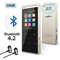 MUSRUN 16GB Bluetooth 4.2 MP3 Player with FM Radio/Voice Recorder