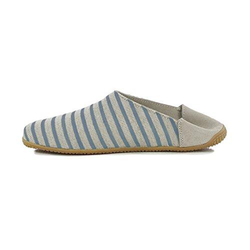 mit Pantoffeln Jeans Pantoffel Damen Streifen Blau Living Kitzbühel q6OStwp