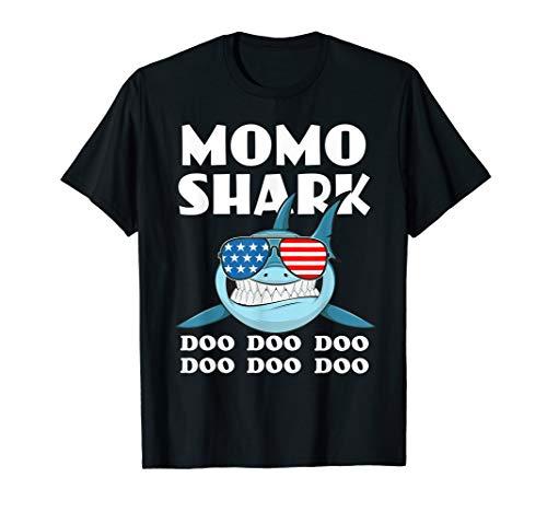 Momo Shark Shirt Doo Doo Doo - Shark Sunglasses Flag ()
