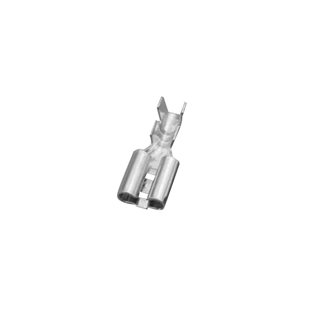 MagiDeal Lot 100pcs 4.8mm Raccords Rapides Bêche Femelle à Sertir Les Bornes 22 ~ 16AWG Avec étui