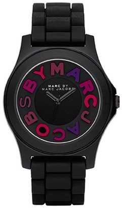 a07f7f11274 Image Unavailable. Image not available for. Color  Marc by Marc Jacobs  Black Sloane Silicone Ladies Watch MBM8536