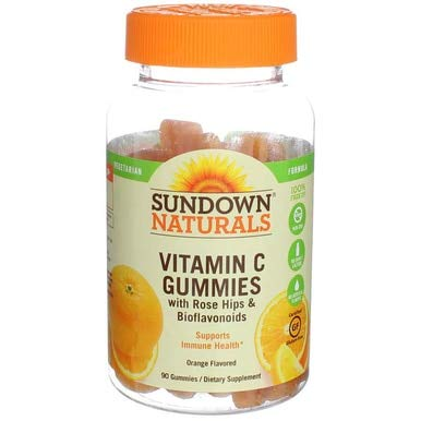 - Sundown Naturals Vitamin C Gluten Free Gummies Delicious Orange Flavor - 90 ct, Pack of 3