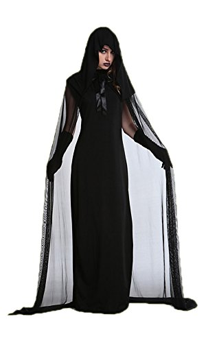 [LifeWheel Halloween Vampire Bride Masquerade Costumes Witch Dress Pretend Play Clothing] (Best Prohibition Costumes)