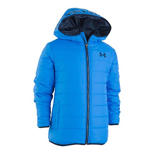 Under Armour Boys' Little Pronto Puffer Jacket, Blue Circuit, 5