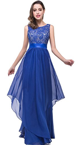 Babyonline  Lace Mother of the Bride Dress Long Formal Evening Gowns,Royal Blue,14