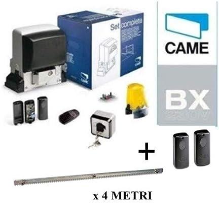 Came 001U2313 + 001DIR10 - Kit de automatización para puertas correderas (800 kg, incluye un par de fotocélulas y una cremallera Hiltron): Amazon.es: Bricolaje y herramientas