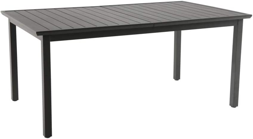 resol Mesa de jardín Exterior Rectangular Extensible Rodas 100x173/252 - Color Gris Oscuro