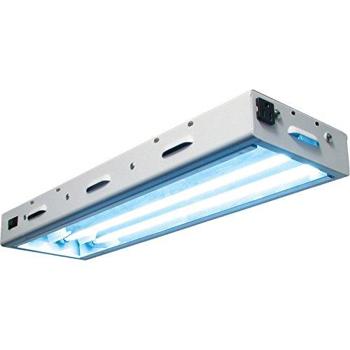 Sunlight Supply Sun Blaze T5 High Output 22 Fluorescent Fixture Grow Light — Two 2ft. 24 Watt Lamps, 120 Volt